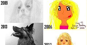 El Antes y Después de 15 Inspiradores Dibujos que Nos Muestran que la Práctica Sí Hace al Maestro