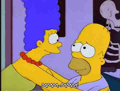 amor homero simpson marge