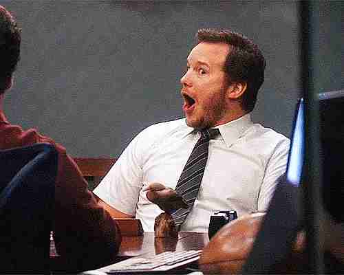 Chris Pratt haciendo mueca