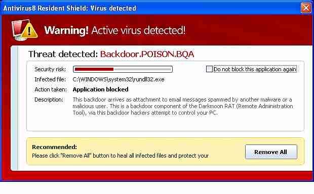 antivirus falso
