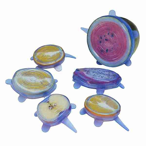 Tapas estirables de silicón