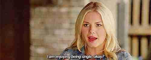 Estoy disfrutando ser soltera, ¿está bien?