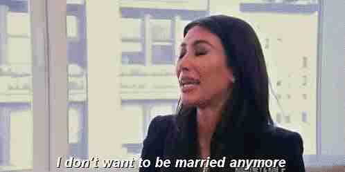 no quiero estar más casada