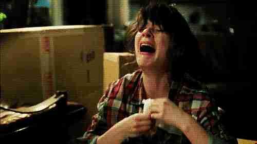 gif chica llorando