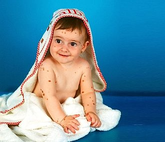 Alba Parejo cuando era un bebe