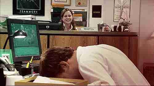 dormido en el trabajo