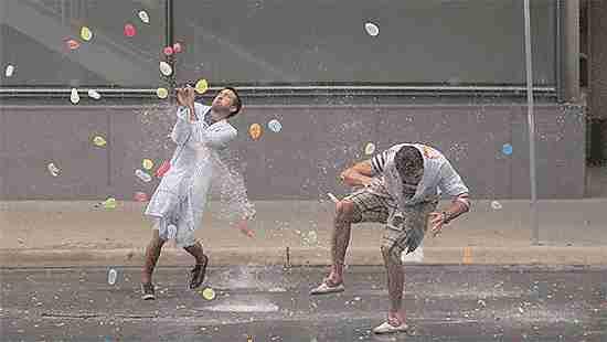 guerra globos de agua