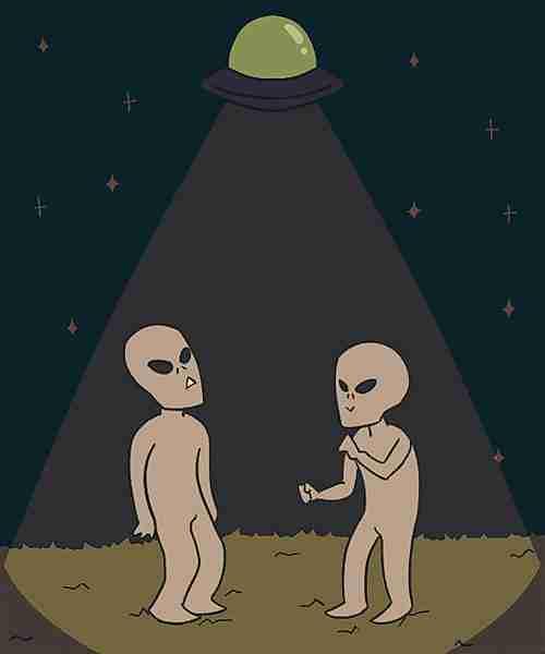 Aliens bailando