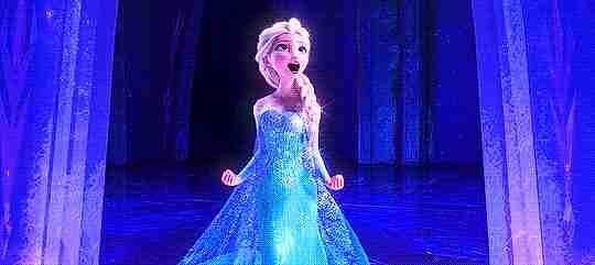 elsa cantando en frozen