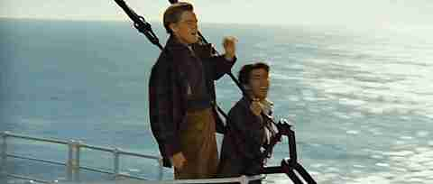 Imagen de Leonardo Dicaprio en Titanic