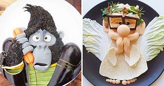 Para Hacer que mi hijo coma Saludable, Transformo su almuerzo en sus dibujos Favoritos