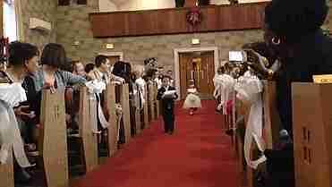 Niños en bodas risa