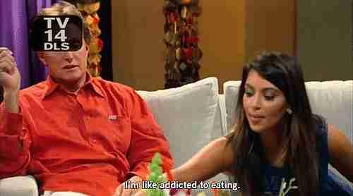 Kim comiendo