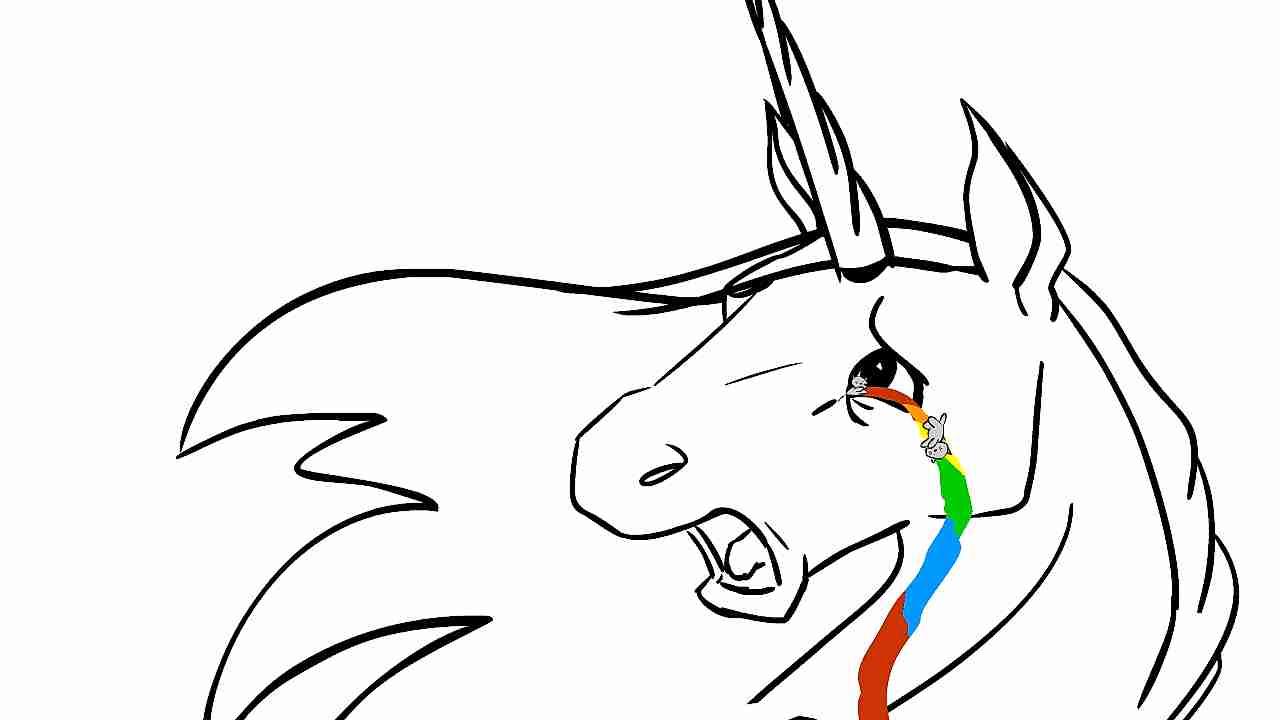 unicornio llorando