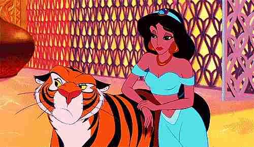 Princesa Jasmine y su tigre Rajar