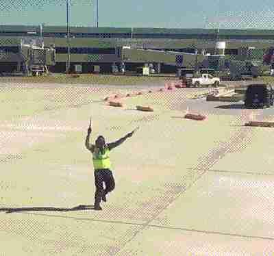 trabajador de aeropuerto