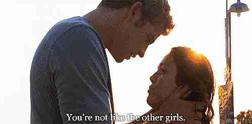 no eres como las otras chicas