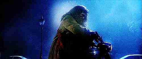Hagrid en su moto