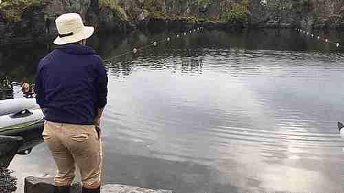 arrojando piedras sobre el agua
