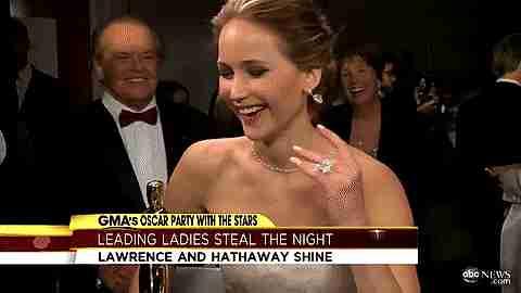 Jennifer Lawrence y Jack Nicholson