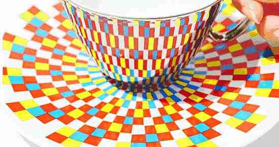 tazas op art