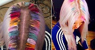 8 Fotos que Prueban que las Raíces de Arcoiris Están de Moda