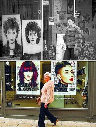 señora frente a estética en 1985 y 2015