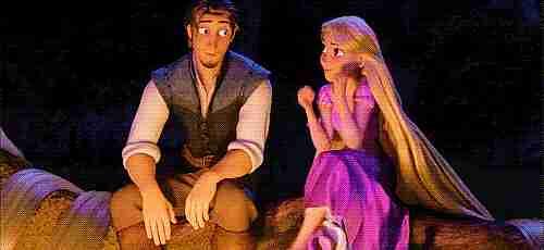 Rapunzel y Flynn Rider