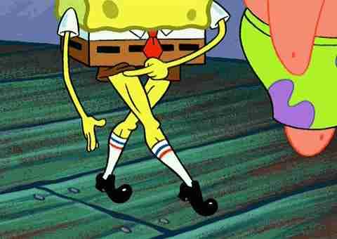 piernas de bob esponja