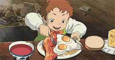 eating egg