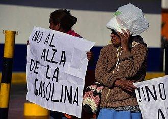 protestas por la gasolina