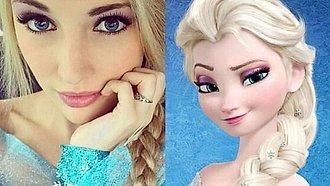 Elsa de Frozen de la vida real.