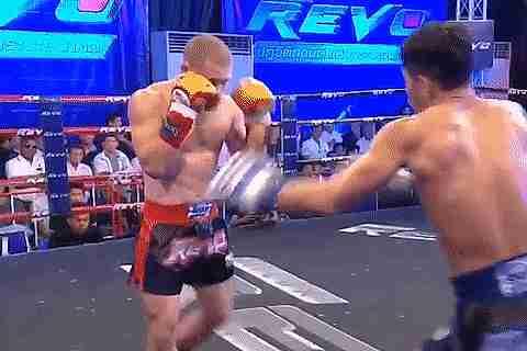 Hombres peleando