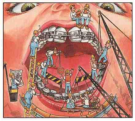 obreros en la boca